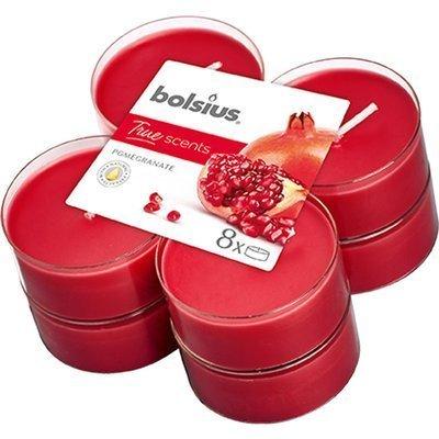 Bolsius scented maxi tealights 6 cm 8 pcs True Scents red - Pomegranate