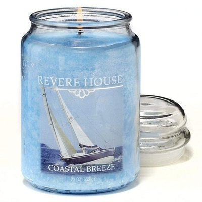 Candle-lite Revere House Large Jar Glass Scented Candle 23 oz 652 g - Coastal Breeze
