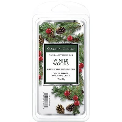 Colonial Candle Classic soy wax melt 6 cubes 2.75 oz 77 g - Winter Woods