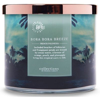 Colonial Candle Travel large soy scented candle 3 wicks 14.5 oz 411 g - Bora Bora Breeze