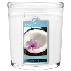 Colonial Candle large scented oval jar candle 22 oz 623 g - Coconut Rain