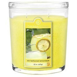 Colonial Candle large scented oval jar candle 22 oz 623 g - Old Fashioned Lemonade