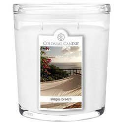 Colonial Candle large scented oval jar candle 22 oz 623 g - Simple Breeze