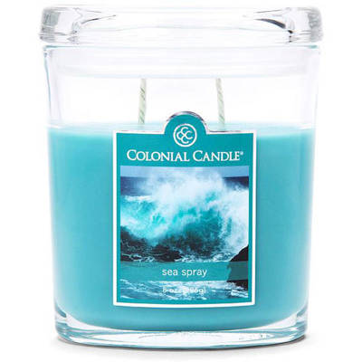 Colonial Candle medium scented oval jar candle 8 oz 226 g - Sea Spray