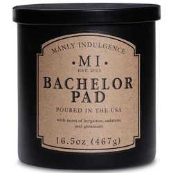 Colonial Candle soy scented candle black 16.5 oz 467 g - Bachelor Pad