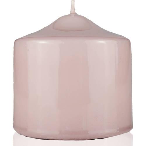Meloria Candela di Lusso Candelotto Classic luksusowa różowa świeca dekoracyjna pieńkowa słupek 80/80 mm - Tortora