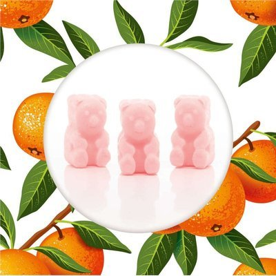 Ted & Friends soy wax melts bears 50 g - Sunkissed Clementine