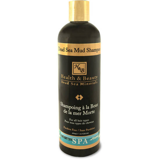 Health & Beauty nourishing shampoo for hair and scalp with the addition of mud enriched with minerals from the Dead Sea 13.52 oz 400 ml