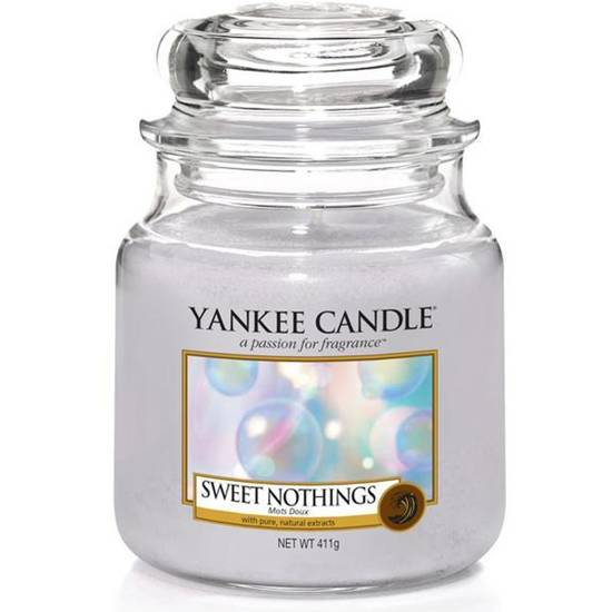 Yankee Candle medium scented candle in a glass jar 14,5 oz 411 g - Sweet Nothings