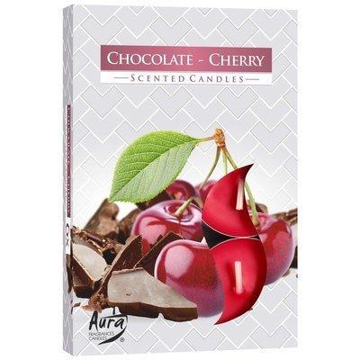 Bispol podgrzewacze zapachowe świeczki w pudełku 6 szt - Chocolate Cherry Czekolada Wiśnia