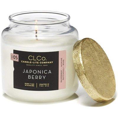 Candle-lite CLCo Candle Jar 14 oz luksusowa świeca zapachowa w szklanym słoju ~ 90 h - No. 05 Japonica Berry
