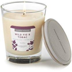 Candle-lite Essential Elements Jar Candle 9 oz świeca zapachowa sojowa w szkle z olejkami eterycznymi 255 g ~ 50 h - Wild Fig & Tobac