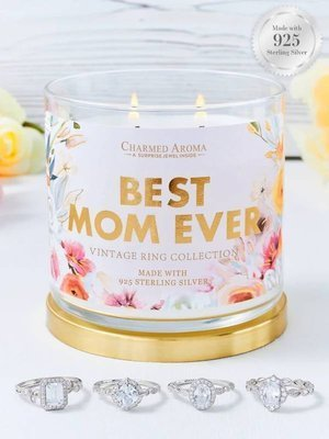 Charmed Aroma sojowa świeca zapachowa z biżuterią 12 oz 340 g Pierścionek - Best Mom Ever