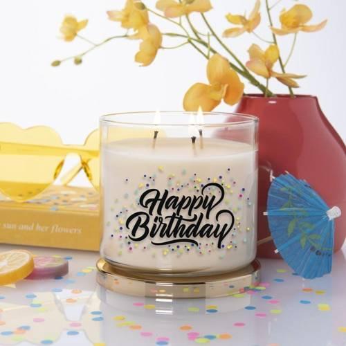 Colonial Candle Inspire sojowa świeca zapachowa w szkle urodzinowa 3 knoty 14.5 oz 411 g - Happy Birthday