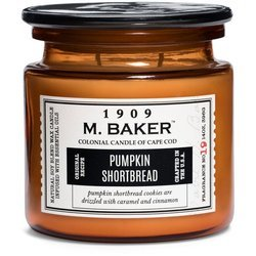 Colonial Candle M. Baker duża sojowa świeca zapachowa w słoju 14 oz 396 g - Pumpkin Shortbread