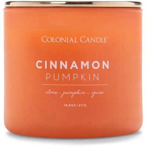 Colonial Candle Pop Of Color sojowa świeca zapachowa w szkle 3 knoty 14.5 oz 411 g - Cinnamon Pumpkin