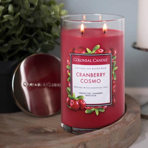 Colonial Candle duża świeca zapachowa sojowa w szkle tumbler 18 oz 510 g - Cranberry Cosmo
