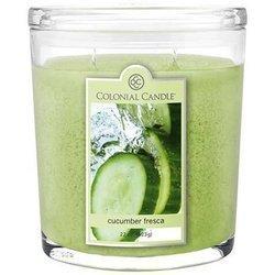 Colonial Candle duża świeca zapachowa w owalnym szkle 22 oz 623 g - Cucumber Fresca