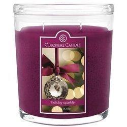 Colonial Candle duża świeca zapachowa w owalnym szkle 22 oz 623 g - Holiday Sparkle