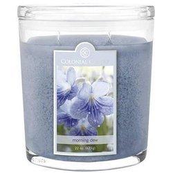 Colonial Candle duża świeca zapachowa w owalnym szkle 22 oz 623 g - Morning Dew