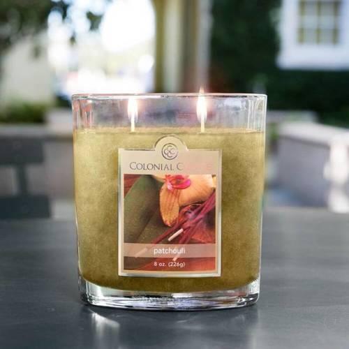 Colonial Candle średnia świeca zapachowa w owalnym szkle 8 oz 226 g - Patchouli