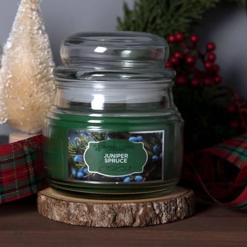Colonial Candle świąteczna świeca zapachowa w szklanym słoju 9 oz 255 g - Juniper Spruce