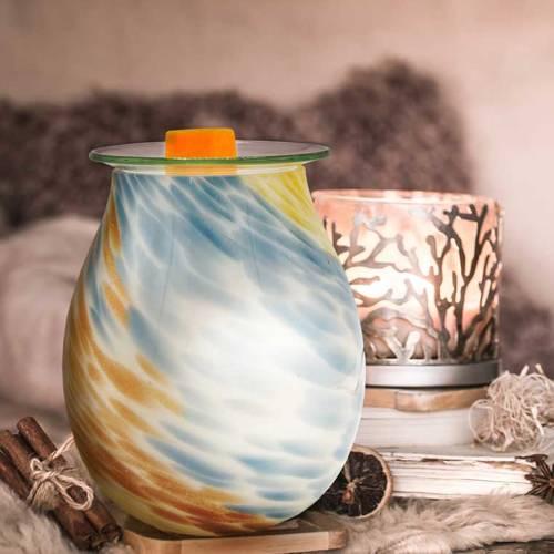 Elektryczny kominek do wosków zapachowych Modern szklany