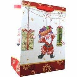 Gabryel torebka prezentowa świąteczna upominkowa dekoracyjna 400/300/120 mm TS03C-L - Santa