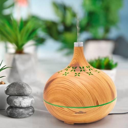 Lampa zapachowa do aromaterapii dyfuzor ultrasoniczny Equador drewno