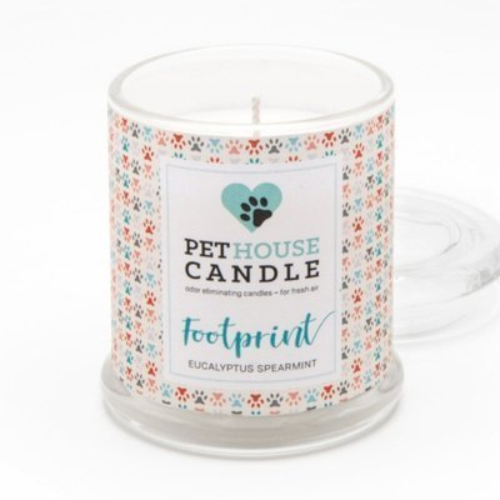PetHouse Candle sojowa świeca zapachowa neutralizująca zapach - Footprint Eucalyptus Spearmint
