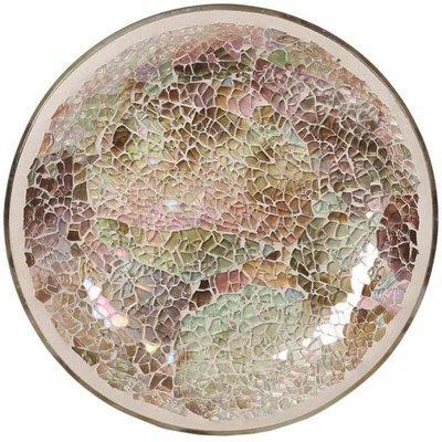Woodbridge podstawka pod świecę 16 cm mozaika Natural Crackle