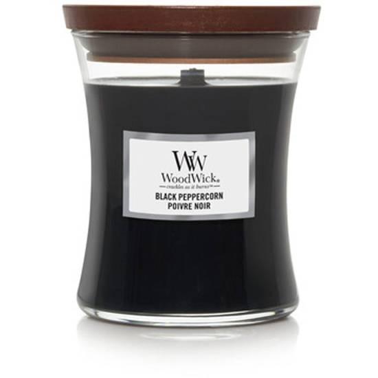 WoodWick Core średnia świeca zapachowa z drewnianym knotem 9.7 oz 275 g - Black Peppercorn