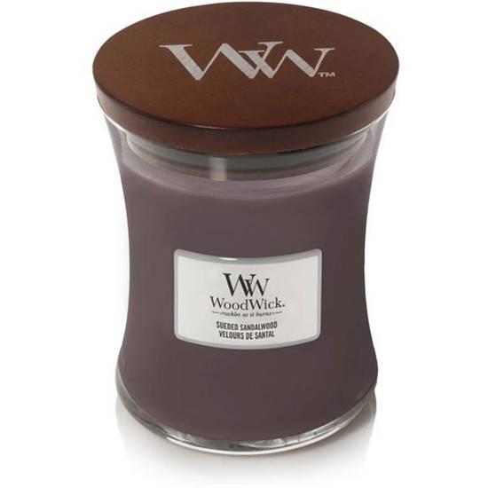 WoodWick Core średnia świeca zapachowa z drewnianym knotem 9.7 oz 275 g - Sueded Sandalwood