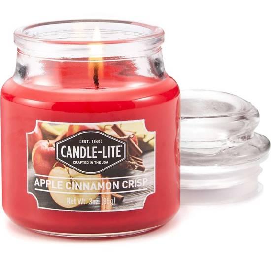 Candle-lite Everyday mała świeca zapachowa w szklanym słoiku 3 oz 85 g - Apple Cinnamon Crisp
