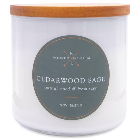 Colonial Candle Luxe sojowa świeca zapachowa w szkle drewniany knot 368 g - Cedarwood Sage