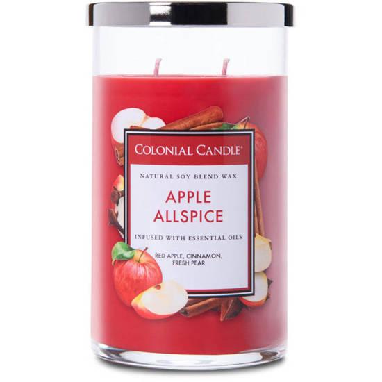 Colonial Candle duża świeca zapachowa sojowa w szkle tumbler 19 oz 538 g - Apple Allspice