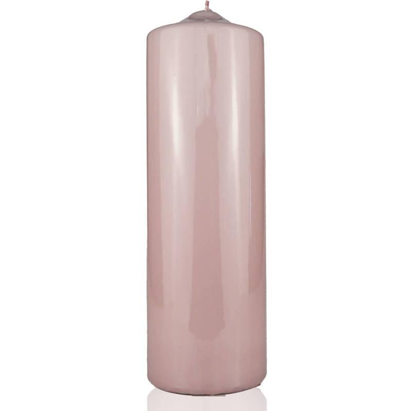 Meloria Candela di Lusso Candelotto Classic luksusowa różowa świeca dekoracyjna pieńkowa słupek 240/80 mm - Tortora