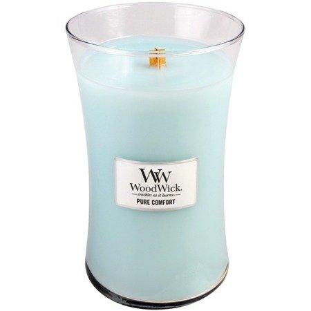 WoodWick Core Large Candle świeca zapachowa z drewnianym knotem w szkle ~ 175 h - Pure Comfort