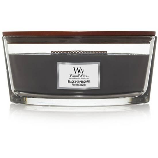 Woodwick Core Heartwick Ellipse duża świeca zapachowa z drewnianym knotem 16 oz 453.6 g - Black Peppercorn